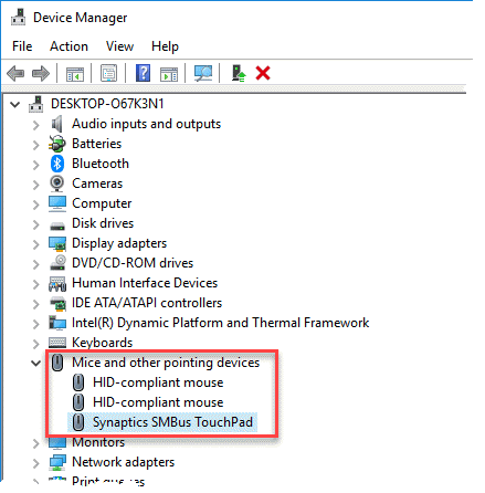 From Device Manager: