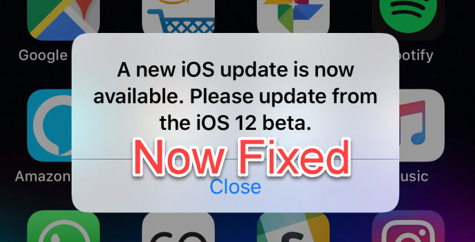 A New Update Is Available Bug In iOS 12