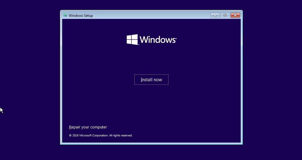 Install now -Blue Screen Windows 10 (5)