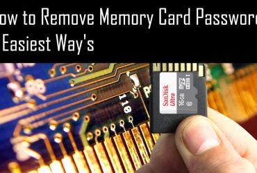 Memory card password delete software
